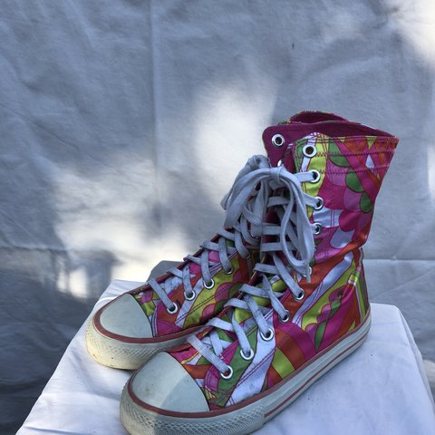 8556bd23ee Dollhouse high top converse-like shoes. Funky pattern