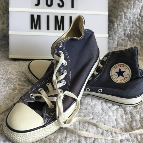 0c8d28600544ca Men s Navy Blue Size 9 Converse. As you can see in the they - Depop