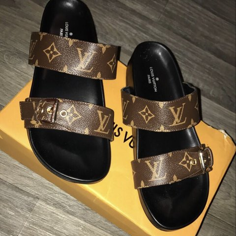 3b0a1435f006 Authentic Louis Vuitton sandals Never worn Fits a 7 to - Depop