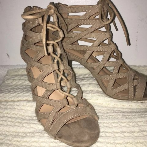 fec26e529b Lace-Up Heels with a zipper on the back.