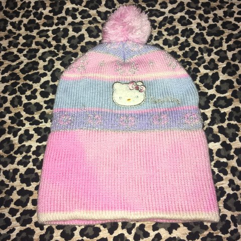 0aa0490c861 Official Hello Kitty beanie Super cute embroidered Good I - Depop