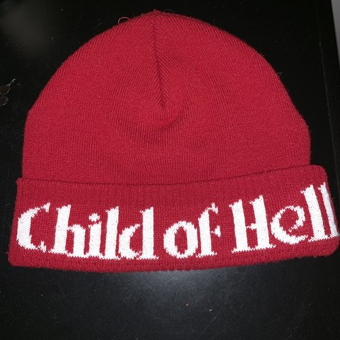 7496f69ce96 Supreme Child of Hell beanie Worn once 10 10 condition - Depop