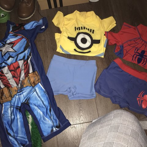 9d70aeaf79 @michiemcg. 6 months ago. United Kingdom. Boys swimwear. Minions SOLD