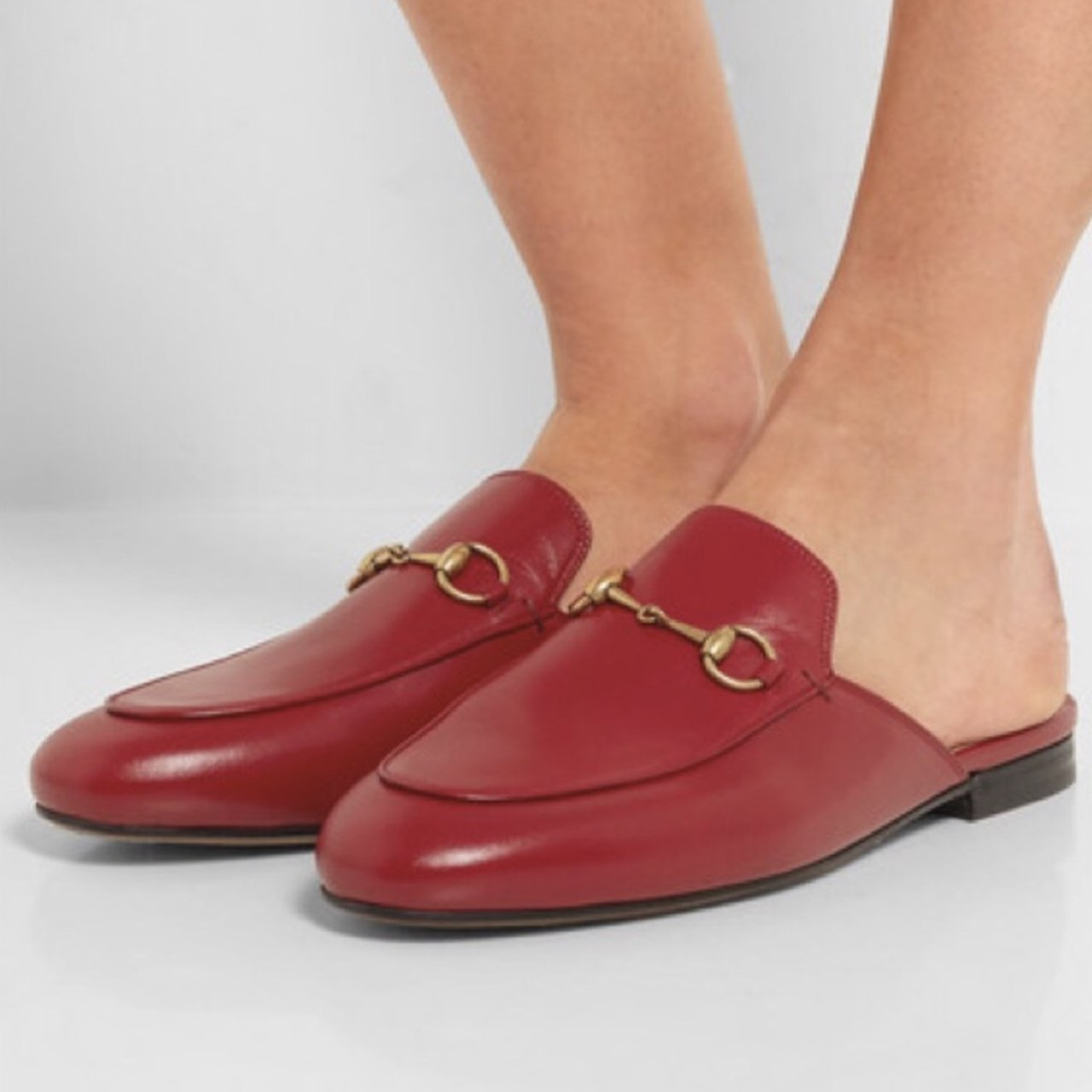 8f161798590 Gucci Princetown Red Slipper Loafers size 39. Used. Some of - Depop