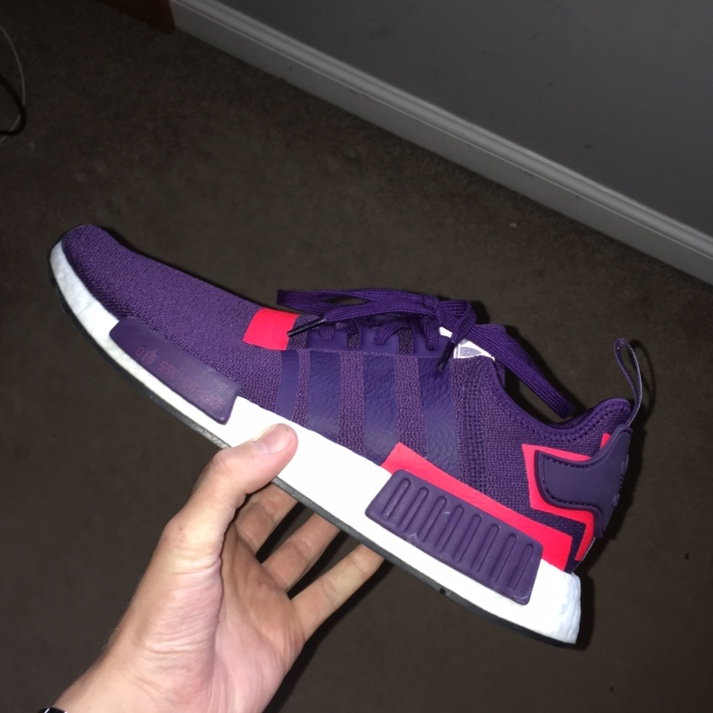 buy popular 69dfd 5e050 Adidas NMD R1 - Legend purple shock red ONLY PAIR ON... - Depop