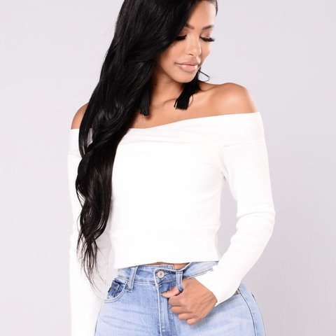92c46722ccf @amayaweakly. 2 months ago. Houston, United States. Fun, white, off the shoulder  sweater top ...