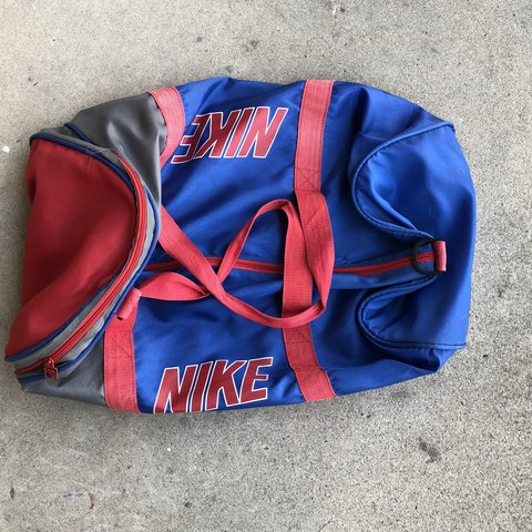 VTG 90s Nike grey tag duffel bag has a few minor marks free - Depop a1cd21084f49a