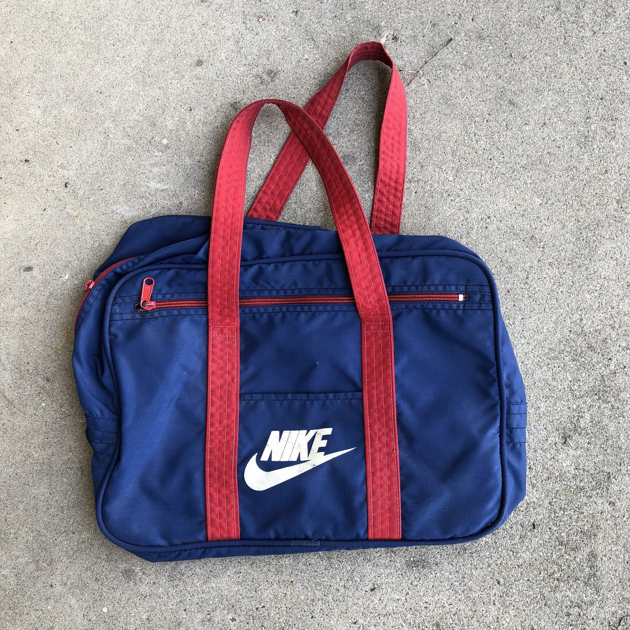 VTG nike double sided little duffel bag has marks on Nike - Depop 76f57dec2240e