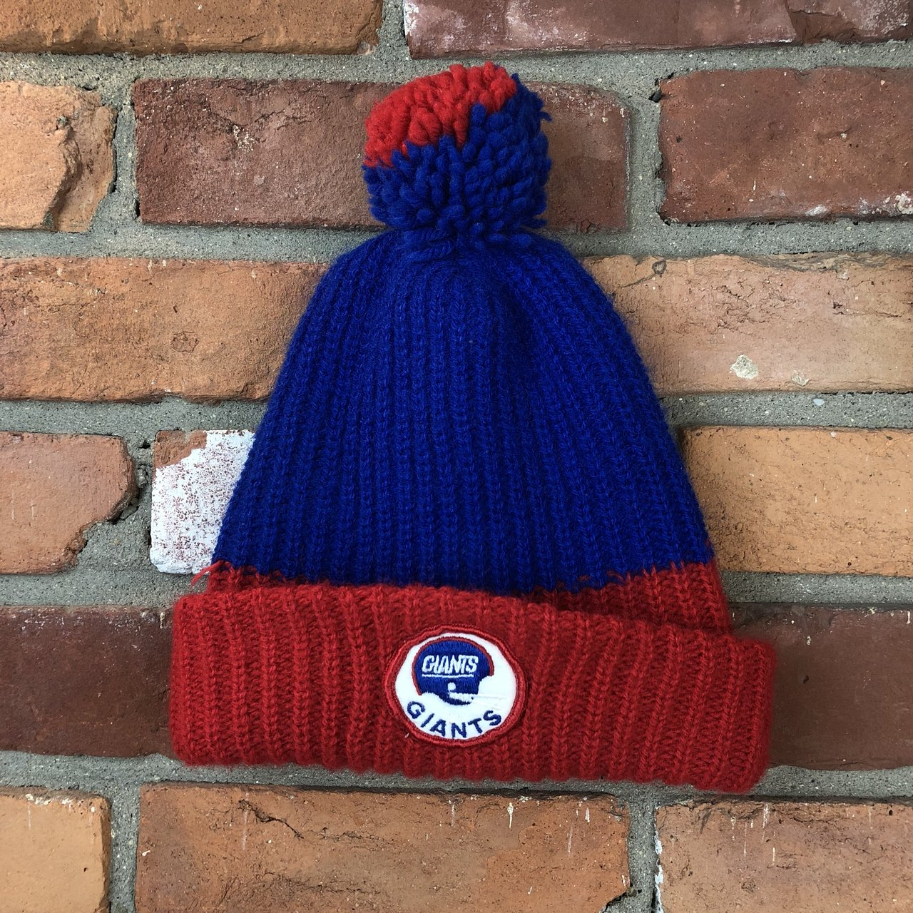 Vintage 80s New York giants nfl stocking beanie winter hat  808fe01a195