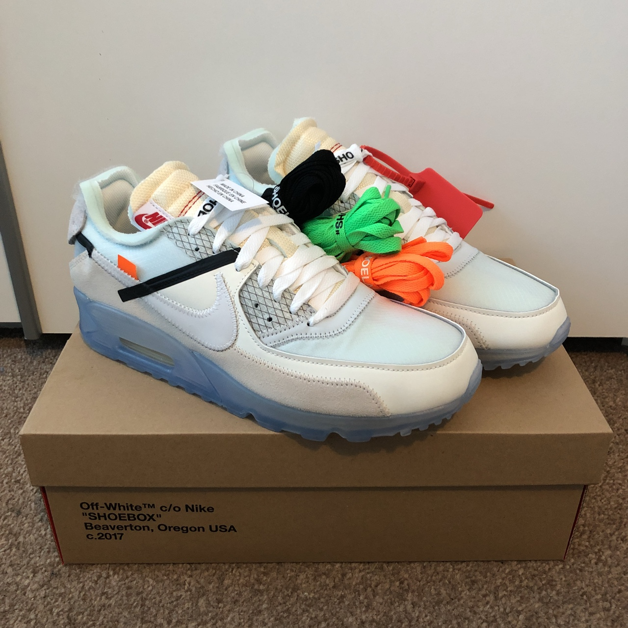 Nike Off White Air Max 90 x Virgil Abloh UK 8.5 Depop