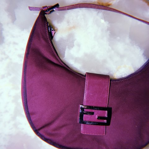 ajutorvintage. in 9 hours. United Kingdom. VINTAGE FENDI PURPLE FABRIC  SHOULDER BAG 100% AUTHENTIC ☆ Good but used ... 3a828b30d313f