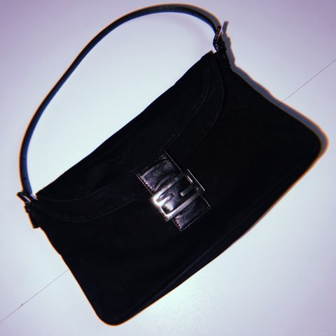 74bb6920b2  ajutorvintage. last month. United Kingdom. VINTAGE FENDI MEDIUM BLACK  FABRIC POCHETTE BAG 100% AUTHENTIC ☆ Good condition  ...