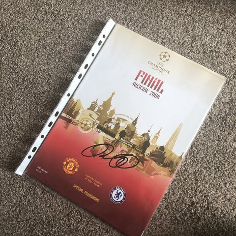 f7623a996f6 Manchester United 2008 Champions League Final Programme by a - Depop