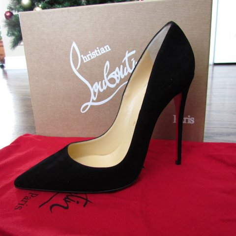 c16d56298c0a Brand New Christian Louboutin So Kate pumps in Black Suede - Depop