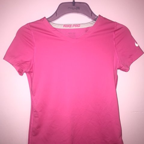 06a28fbb @carragriff. 29 days ago. Llanelli, United Kingdom. Girls pink Nike pro t- shirt