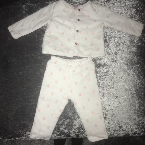 2d9a5acd165eaf Baby girls ted baker outfit white   pink 6-9 months amazing - Depop