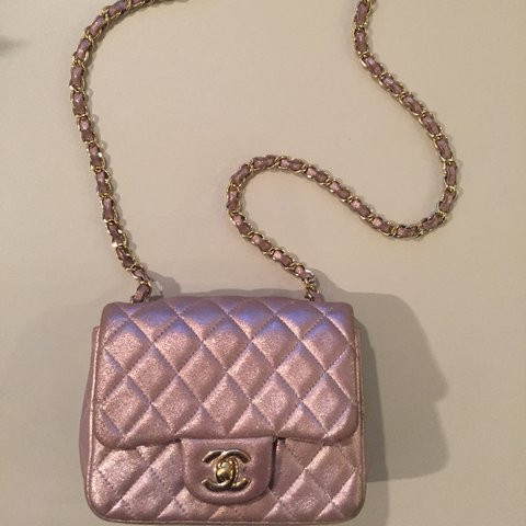 8595a9693 @theluxurycollection. last year. London, United Kingdom. Authentic Chanel  Square Mini Flap Bag