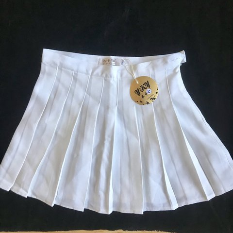 b6854e37aa @efmckenna. 11 months ago. Berkhamsted, United Kingdom. NEW White pleated  tennis skirt - Ebay