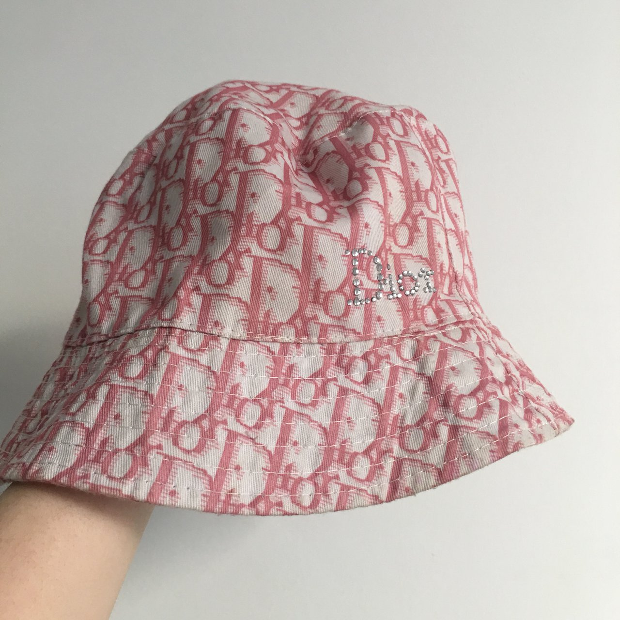Vintage Dior monogram bucket hat with Diamanté. 90s Y2K 💖 - Depop 591f90848aa