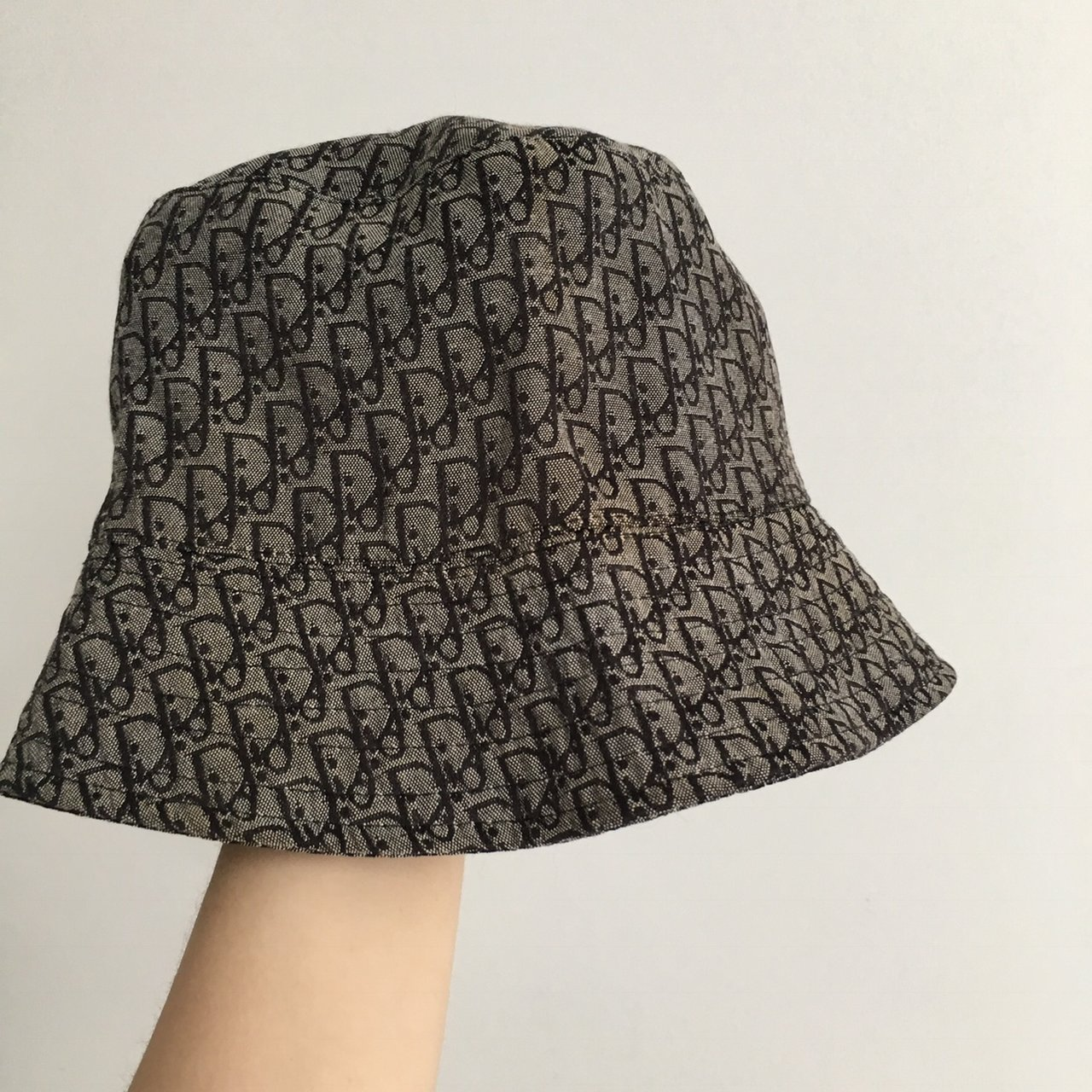 Vintage Dior monogram bucket hat in grey. 80s 90s item so on - Depop ce2f90650f3