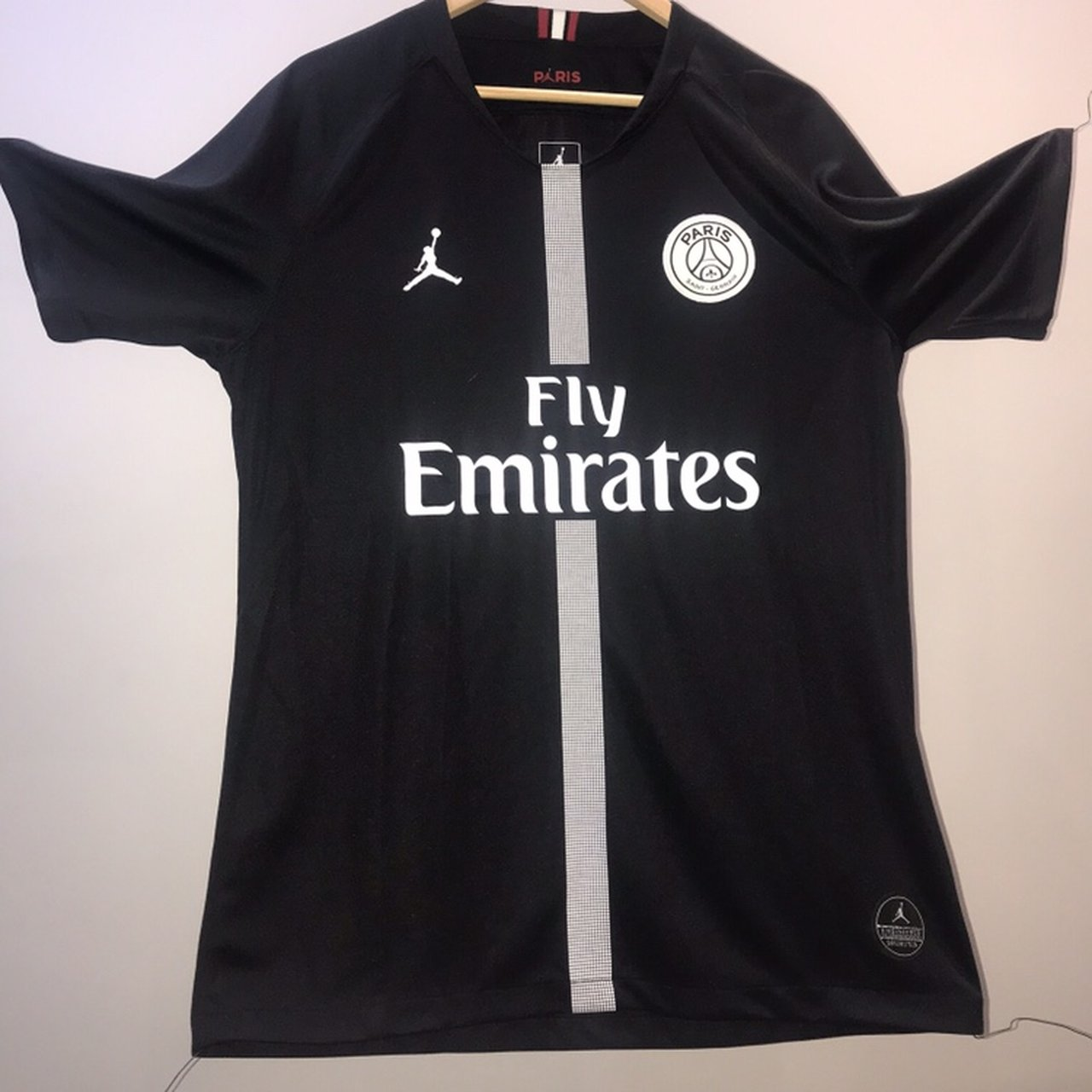 Psg Jordan 2018 2019 Home Football Shirt Psg Jordan Depop