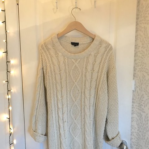704a063bbcaeef @lunaandlight. last year. Coventry, United Kingdom. Topshop oversized chunky  cable knit jumper. Cream
