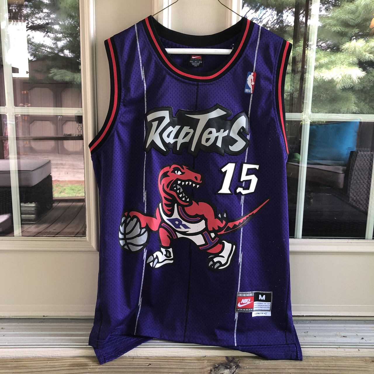 super popular 8f116 63359 Old school Nike Vince Carter Raptors jersey Number... - Depop