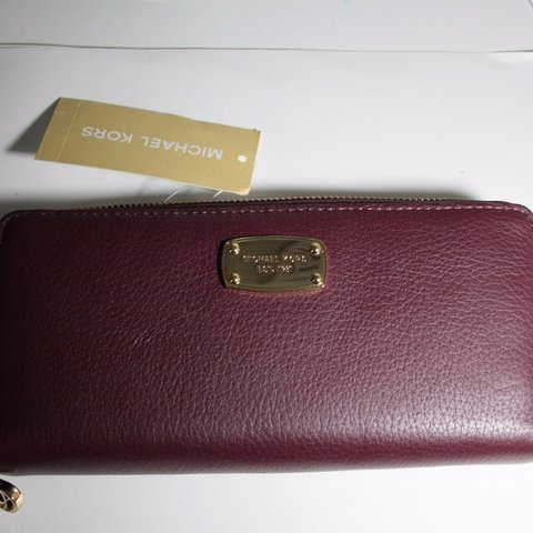 30c2b16c5adc Michael Kors Leather Purple Wallet New with tags