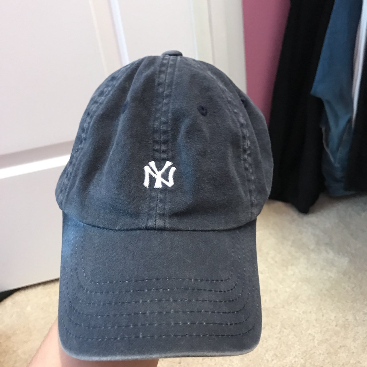 American Needle Distressed New York Yankees Hat. Never Worn. - Depop 2a25eb4a869