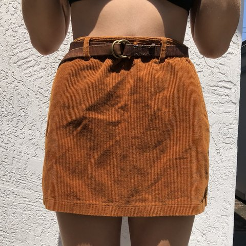 2ed108b2c3 @amyheil. last year. San Diego, United States. Rust colored corduroy mini  skirt! With belt loops ...