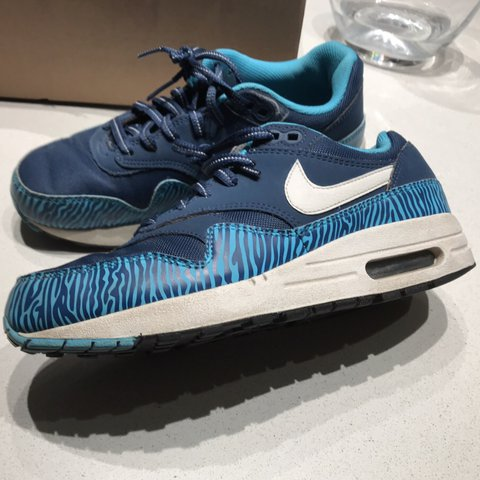 2386c3055789 ... italy limited edition nike air max 1 gs zebra blue size uk 5 depop  c67c1 f4bb4