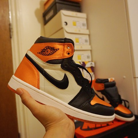 4f62686634e8ee Nike air jordan 1 satin shattered backboard. UK SIZE 4.5!! + - Depop