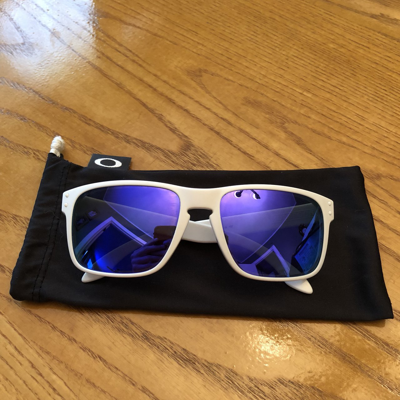 84ea5d1c04 These sunglasses were custom made in the Oakley store and in - Depop