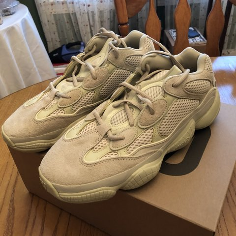 002137a3f Yeezy 500 SuperMoon Yellow Deadstock  no tags Size 10 - Depop