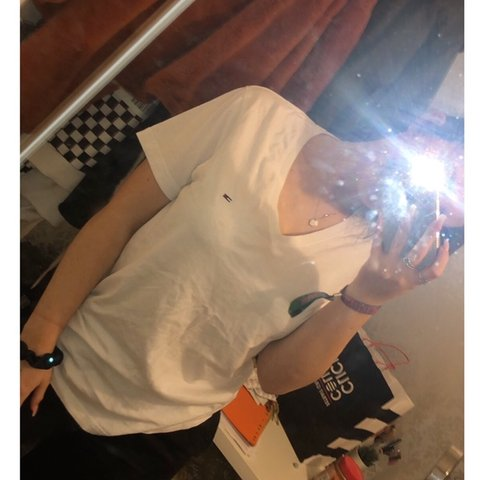 4485b533 @sellis123. 4 months ago. Pontefract, United Kingdom. White Tommy Hilfiger  t shirt perfect condition only ...