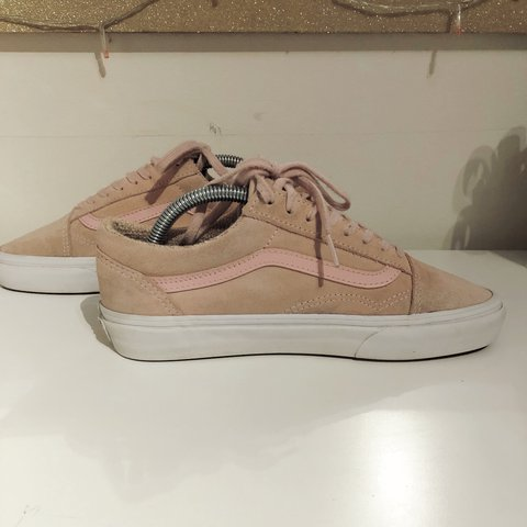 95d2b965c2b5 Women s pastel pink old skool suede vans. Size UK 6. 8 10 on - Depop