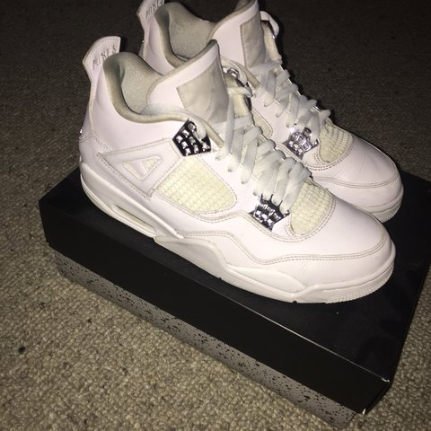 1908e011e4e862 Jordan 4  pure money  💸 Good condition but few scuffs marks - Depop