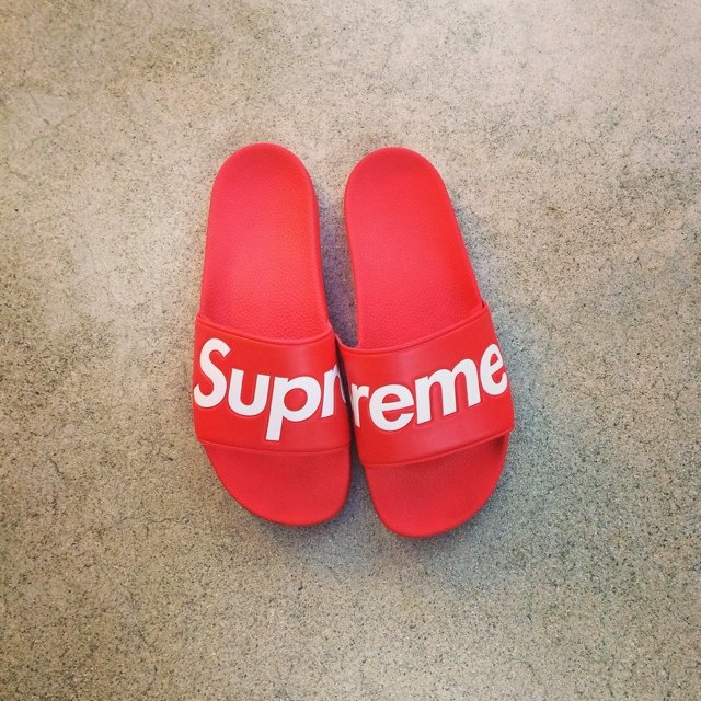 d1a22b966373 Supreme Sandals size 10. Condition 9 10 (only because they - Depop