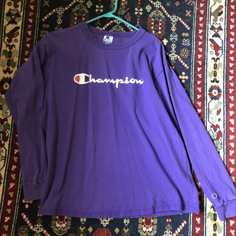 7ed8e2c9 @shellybaby876. 5 months ago. Saint Petersburg, United States. Vintage purple  Champion long sleeve ...
