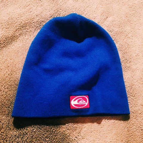 976032bc879 Quiksilver Blue Skully  quiksilver  skully  beanie  hat - Depop