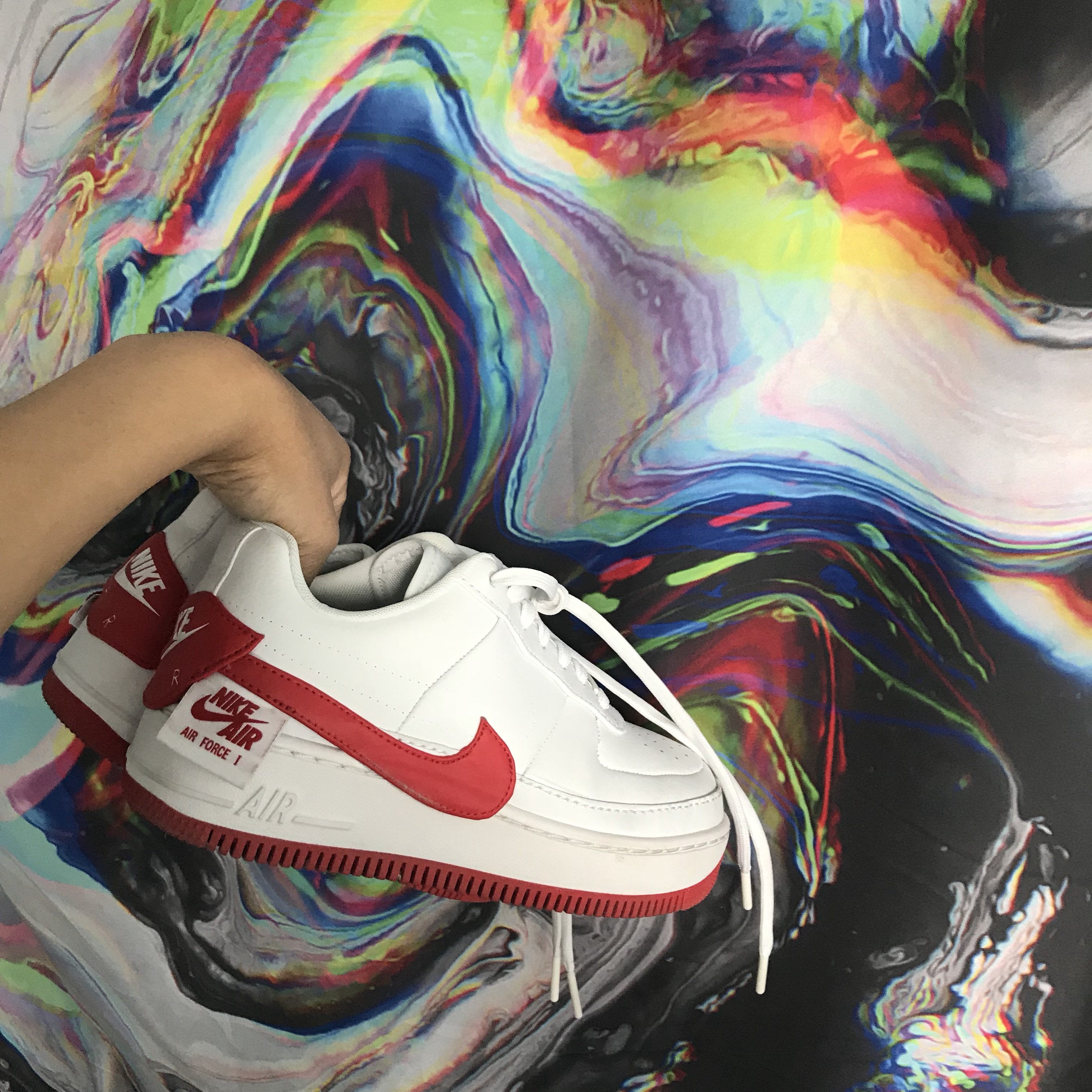 Womens Nike Air Force 1 Jester XX WhiteUniversity Red Cheap