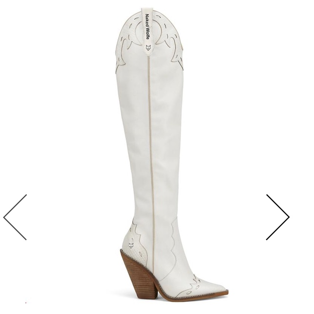 naked Wolfe white stir-up cowboy boot