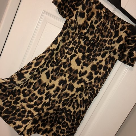 4e222ac851 Leopard print off the shoulder play suit Brand new with - - Depop