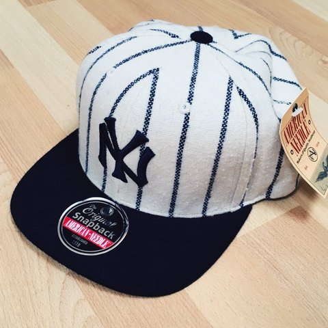 6a472b8cff8f3 Authentic New York Yankees baseball cap • Retro vintage • - Depop