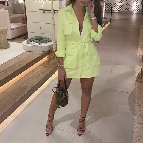 0fc2922acd7a @camronelise. 4 months ago. Halifax, United Kingdom. Lime green blazer  dress size 8 brand new with tags.