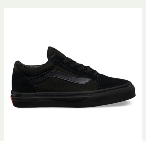 12809ced7c99 All black vans size 6 Worn a handful of times so still in - Depop