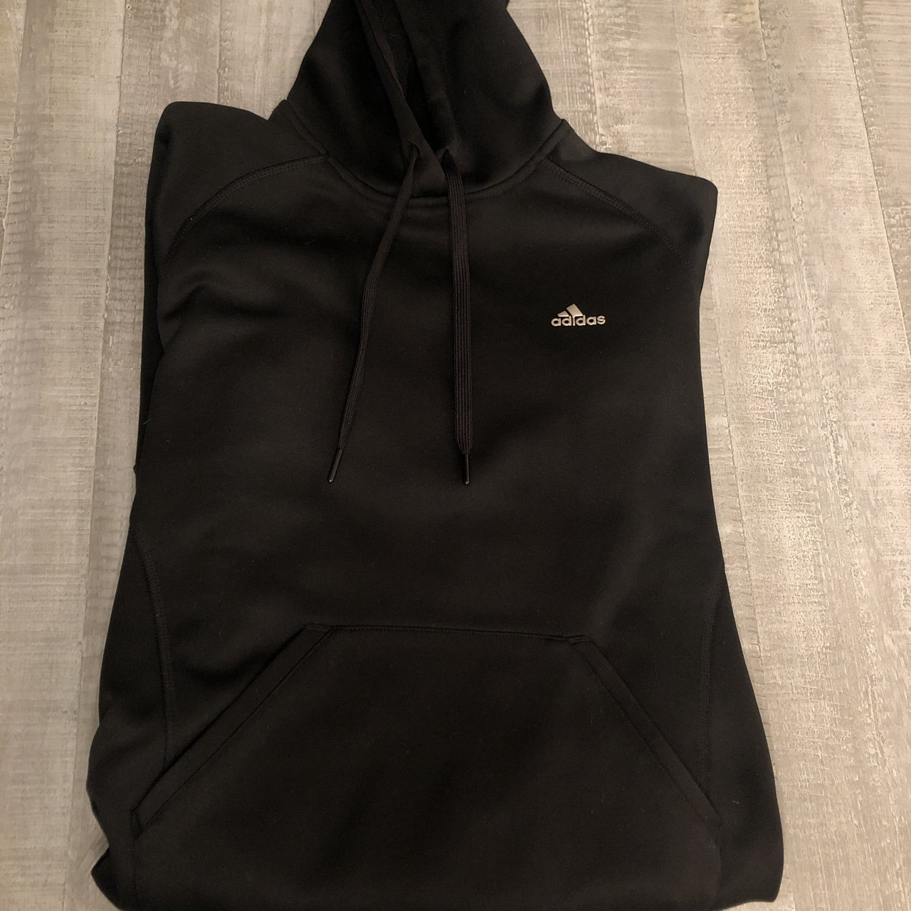 Like new black Adidas pull over hoodie. Women s size SMALL. - Depop 614c8d44e0b