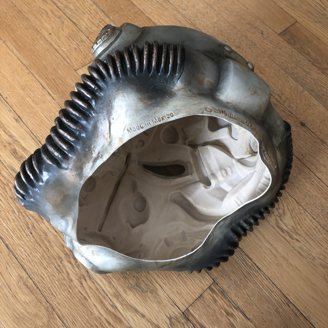 Awesome RUBBER/LATEX Fallout POWER ARMOR helmet     - Depop