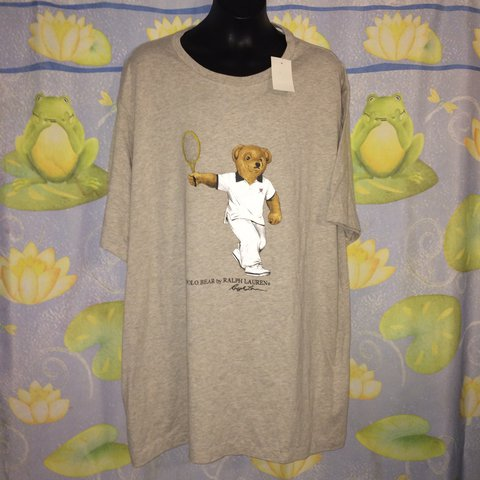 b21aeded @jerseyshorevintage. last year. Lakewood, United States. NWT Men's Polo  Ralph Lauren Limited Edition Wimbledon Tennis Polo Bear T Shirt ...