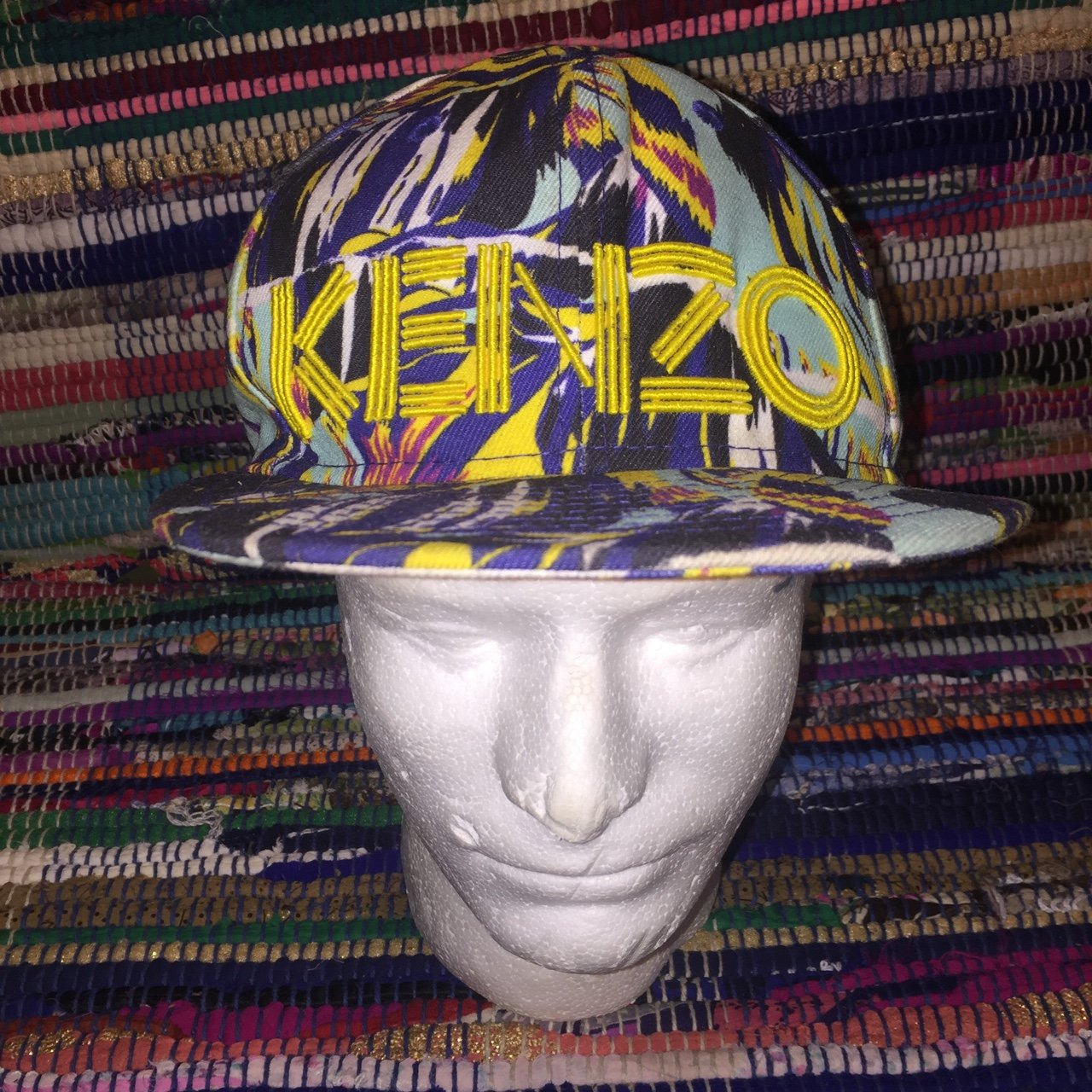 Limited Edition Kenzo Paris x New Era Collaboration Fitted 7 - Depop 2ee82521460